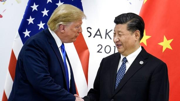 Hvid røg i handelskrigen – Trump og Kina bekræfter første fase af en aftale