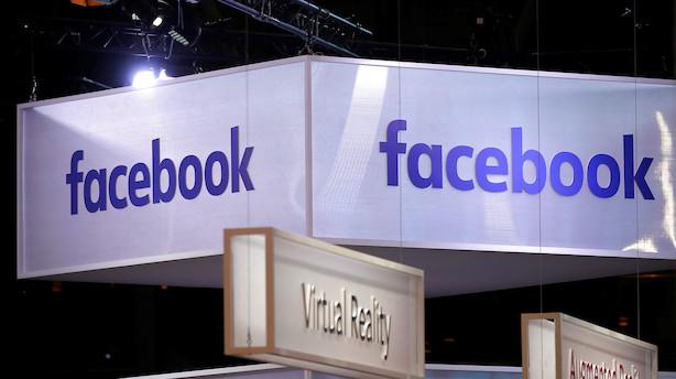 Aktiestatus i USA: Små kursfald - Facebook løfter mest