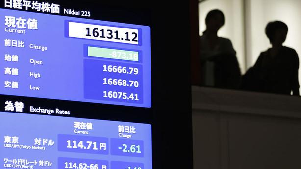 Valuta: Yen styrket markant i Tokyos fravær