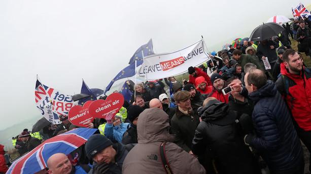 Britiske EU-modstandere indleder to uger lang march