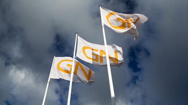 GN Store Nord-aktien i aktiedyk: Falder over 5 pct