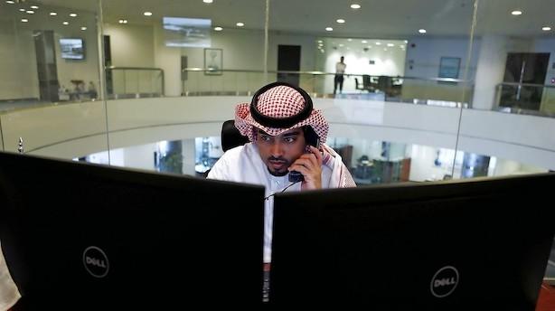 Nervøse investorer i saudisk kursfald