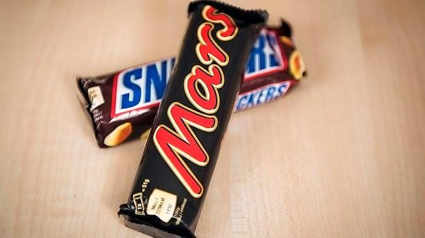 Mars tilbagekalder stort parti chokoladebarer