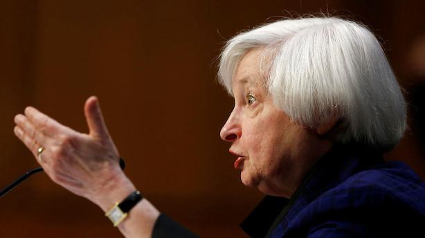 Danske Bank: Tre rentestigninger fra Yellen frem til 2018