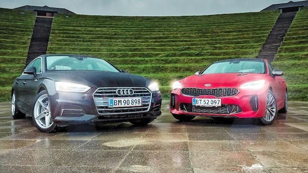 Kia Stinger er veloplagt, men kan den slå Audi A5?
