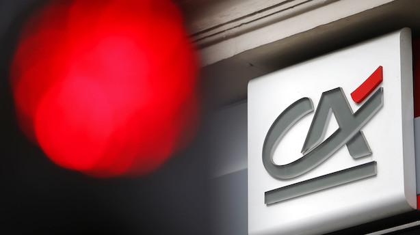 Fransk bank fik et større overskud end ventet i fjerde kvartal