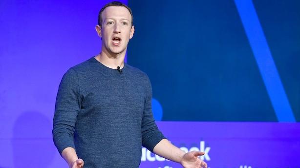 Aktieåbning i USA: Facebook kravler op efter krypto-nyt i grønt marked