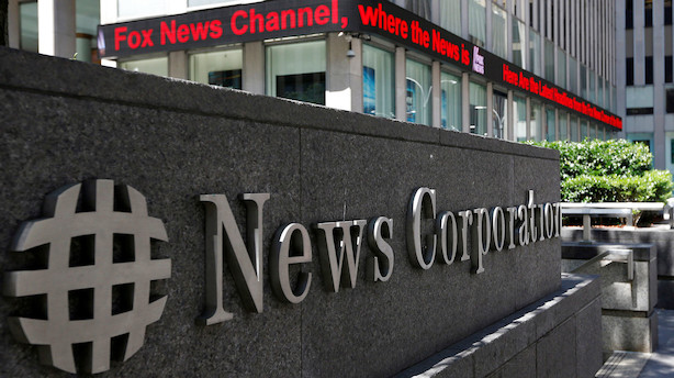 Murdoch-selskab falder 11 pct i S&P 500