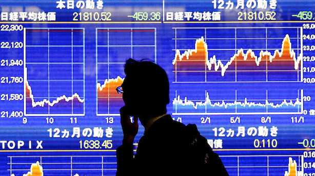 Aktier: Asien følger Wall Streets takt med generelle kursfald