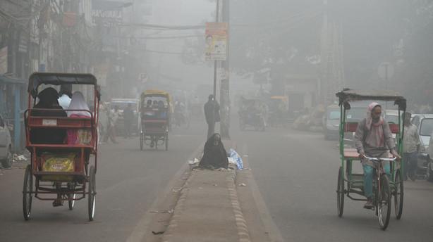 Forurening gør dele af New Delhi til et gaskammer