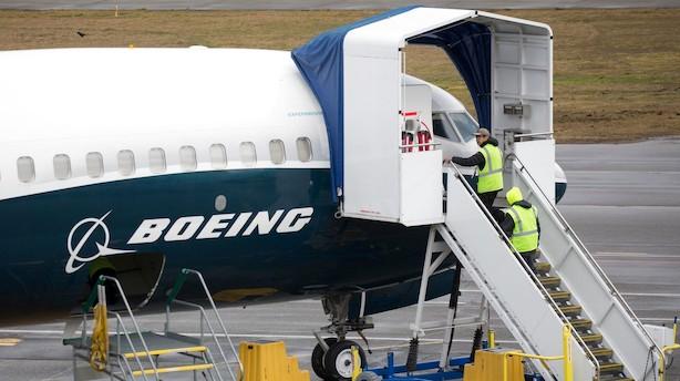 Aktieåbning i USA: Boeing bakker efter bøvl med flymodel i bleggrøn åbning