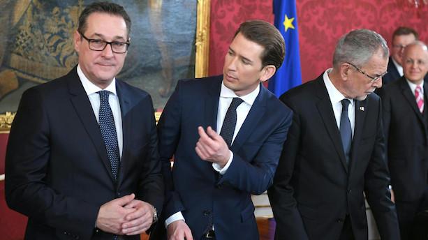 Ny højreorienteret regering er indsat i Østrig