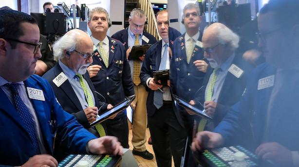 Aktier: Wall Street er på vej mod weekend med minusser på bogen