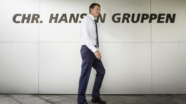 Aktier: Chr. Hansen vendte og endte i toppen med Tryg