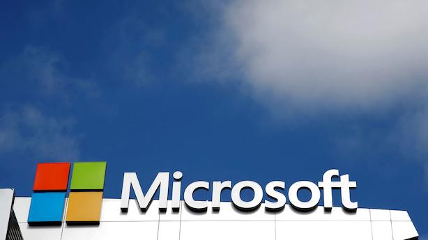 Aktieåbning i USA: Microsoft sendes op efter positivt regnskab i grønt fredagsmarked