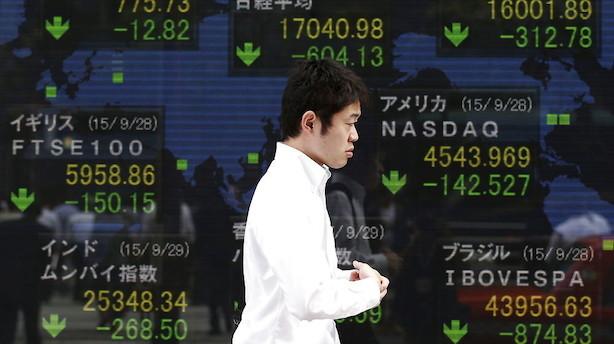 Aktier: Afdæmpet handel i Asien før renteudfald