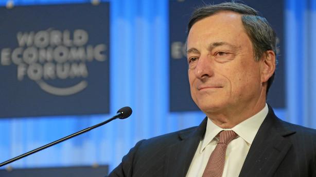 ECB-chef ser livligt opsving i underliggende inflation