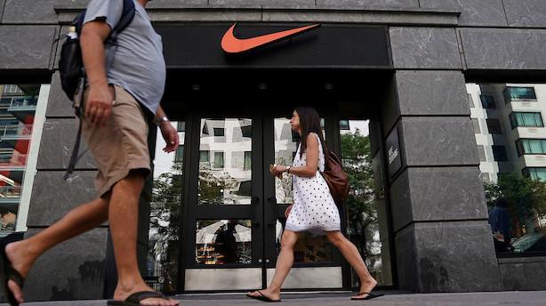 Nike falder i eftermarkedet og skuffer