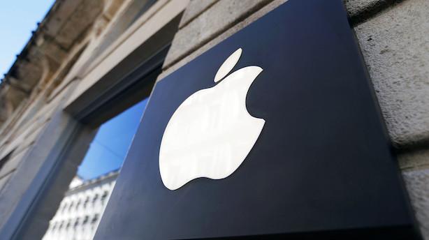 Aktieluk i USA: Beskedent minus - Apple og Facebook trak op