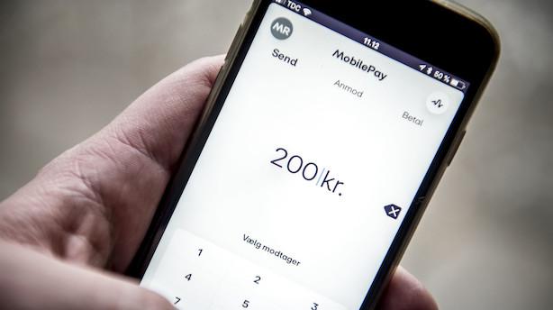 Efter solid stigning af erhvervskunder hos Mobilepay: Nu bremser væksten op