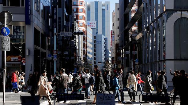 Faldende japansk ledighed og stor forbrugsstigning i november