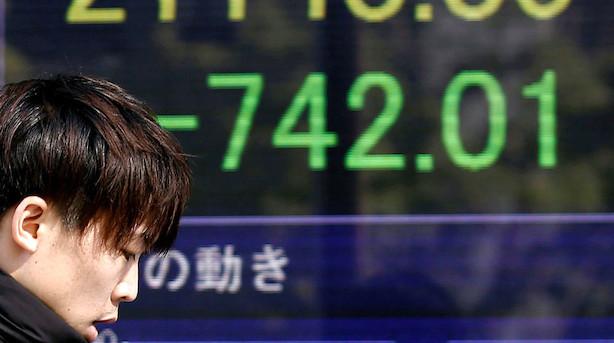 Aktier: Kursfald på asiatiske markeder op til Wall Street-åbning