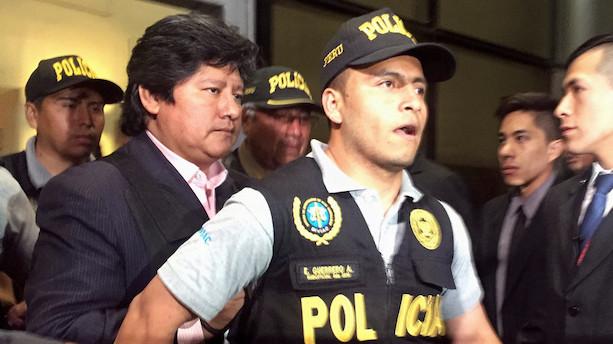 Perus fodboldpræsident er anholdt for korruption