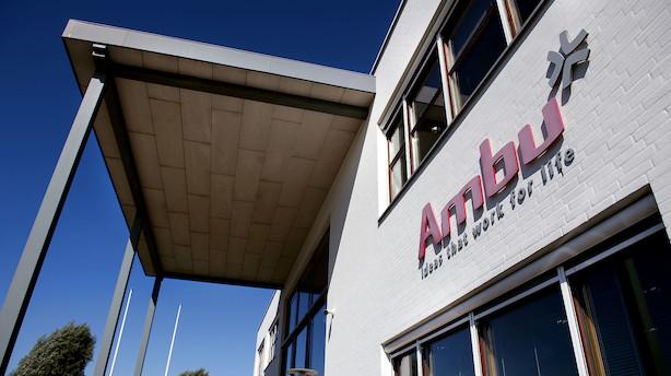 """Carnegie sænker Ambu-kursmål til 78 kr - fastholder """"sælg"""""""