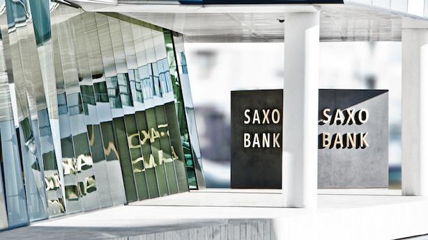 Saxo Bank tilbage med millionoverskud efter schweizerfranc-chok