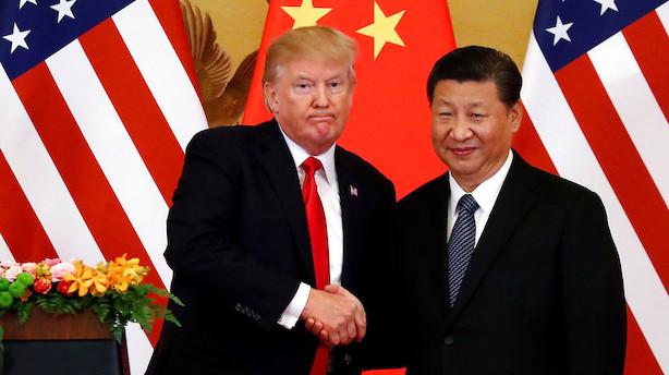 Trump og Xi underskriver forretningsaftaler for milliarder