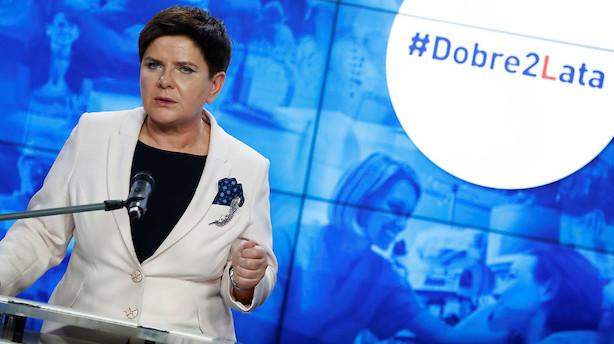 Polens regeringsleder går af - finansminister tager over