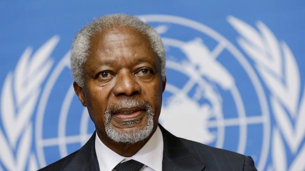 Tidligere FN-generalsekretær Kofi Annan er død