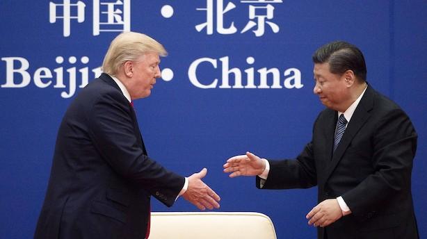Trump vil holde udvidet handelsmøde med Kinas leder