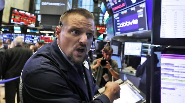Blodrødt på Wall Street: Nasdaq i minus 4,4 pct. Dow Jones og S&P 500 nu i minus for hele året