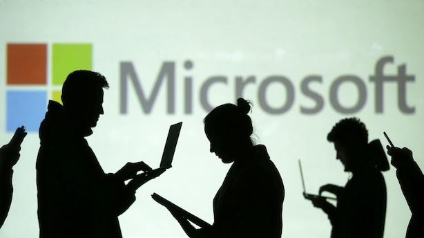 Aktiestatus i USA: Microsoft belønnes i lysegrønt marked efter pæne tal