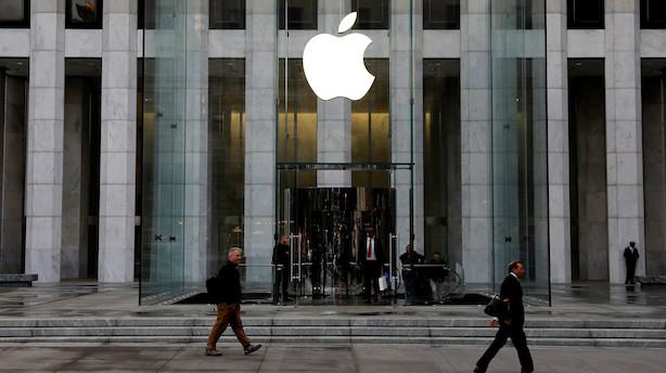 Aktiestatus i USA: Små stigninger - trukket op af Apple-rekord