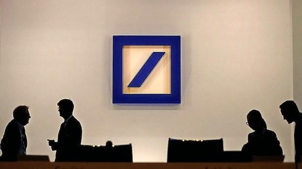 Deutsche Bank får alvorlige lussinger: 7 pct aktiedyk og sænket rating