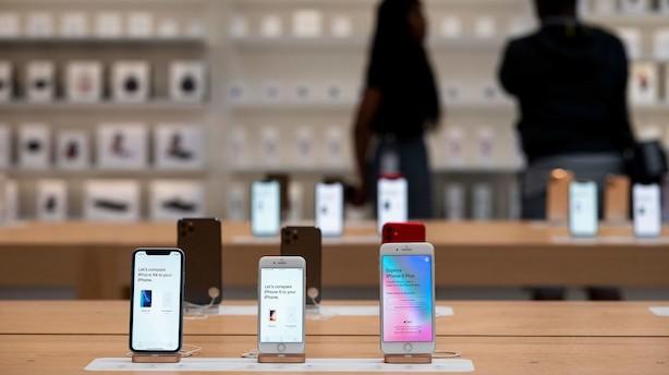 Apples brand falmer i Kina på grund af handelskrigen