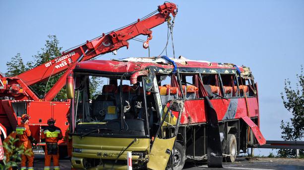 Busulykke i Polen koster tre livet og sårer flere