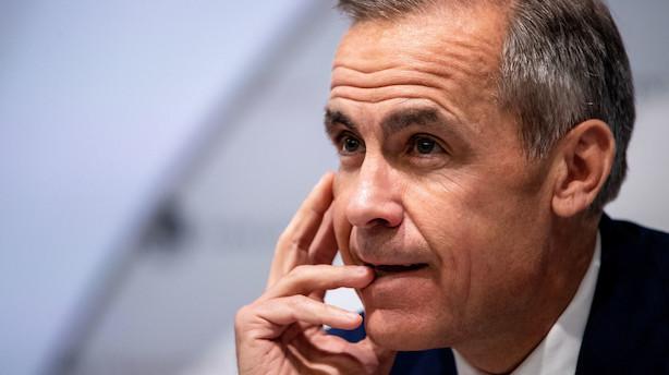Britisk centralbank: Brexit uden aftale vil ryste økonomien