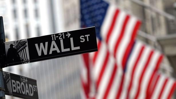 Aktier: USA beslutter sig for negativ åbning