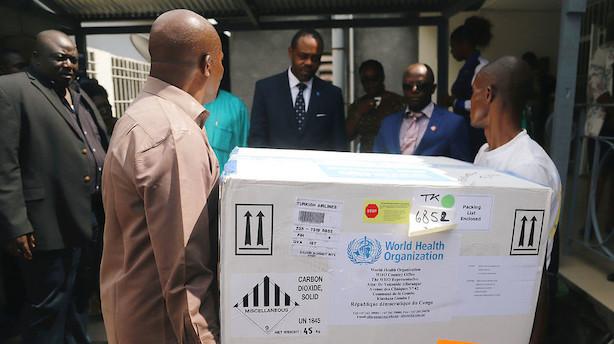 Ebola spreder sig til millionby i DRCongo