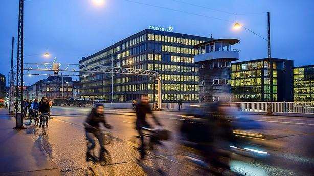 Nordea-aktien falder markant på udbytte