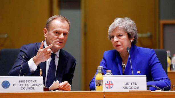 Theresa May beder EU om kort udsættelse af brexit til 30. juni