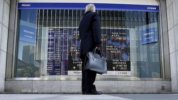 Aktier: Japan trækker ned på ellers glade asiatiske markeder