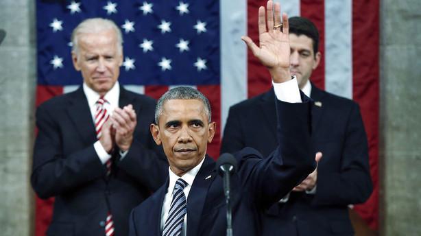 Obama revser politikere og remser sejre op i im�deset tale