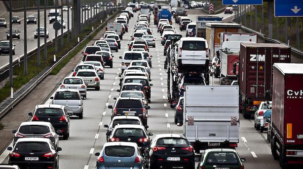 Efterårsferien kan give travlhed på vejene især lørdag