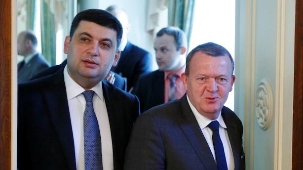Det sker i dag: Lars Løkke møder ukrainsk premierminister på Marienborg