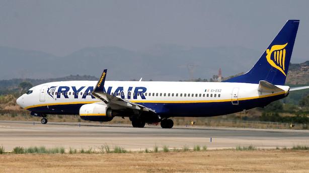 Stigende udgifter til piloter rammer Ryanairs pengepung