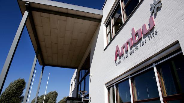 Aktieåbning: Ambu fortsætter nedturen i generelt presset marked